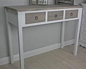 Tisch Weiß Holz : konsole anrichte sekret r wei holz braun landhaus shabby tisch massiv ebay ~ Indierocktalk.com Haus und Dekorationen