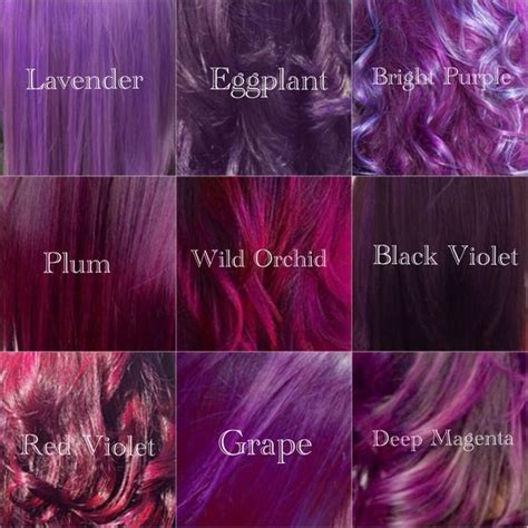 shades  violet hair color purple tones lavander