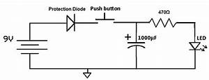 Simple   Led Circuit To Confirm When A Capacitor Is