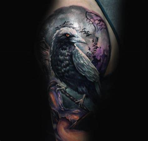 crow tattoo designs  men black bird ink ideas