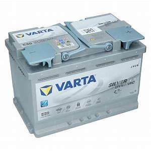 Batterie Varta E39 : varta e39 12v 70ah agm autobatterie starterbatterie silver ~ Jslefanu.com Haus und Dekorationen