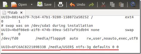 mount external ntfs partitions  ubuntu  raring