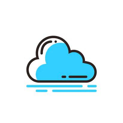 Cloud Icon Icons Line Ico Icns Colored