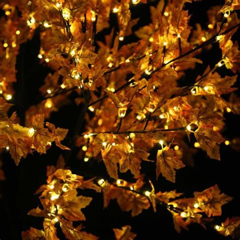 8 2ft brown maple leaf pre lit tree with 400 led s warm