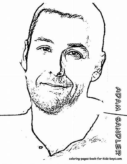 Coloring Pages Adam Sandler Hollywood Myers Michael