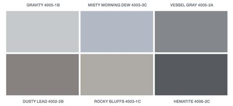 light grey paint swatches return day property