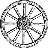 Wagon Wheel Clipart Drawing Svg Line Wheels Coloring Carriage Spoke Sketch Template Transparent Dyson Thomas Ferris Things Covered Vector Getdrawings sketch template