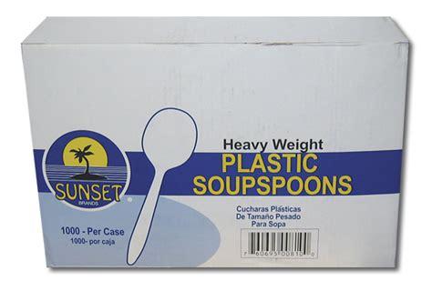 sunset plastic soup spoons  pack restaurant