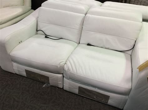 natuzzi white leather sofa and seat able auctions