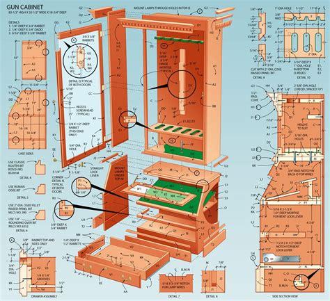 plans  gun cabinet designs  fine