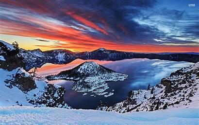 Lake Crater Desktop Backgrounds Wallpapers Park National