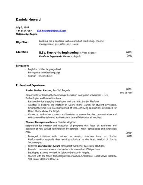 Modelos De Resume by Curriculum Vitae Para Descargar En Word Ejemplos Y Modelos