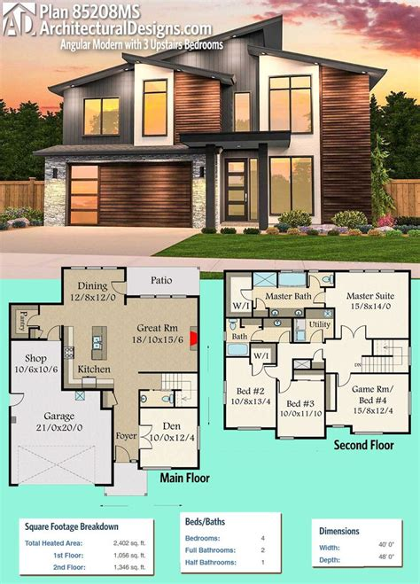 architectural designs home plans modern house plans architectural designs modern house