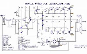 Power Amplifier Super Ocl 500w Circuit Em 2019