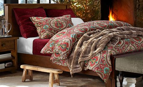 fall bedding sets cozy up bedding fall and winter pottery barn