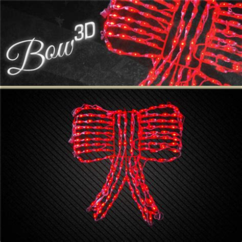 led 3d bow 3d swag not included holidynamics