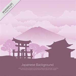 Japanese background with temple Vector | Free Download