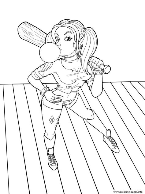 harley quinn suicide squad joker coloring pages printable