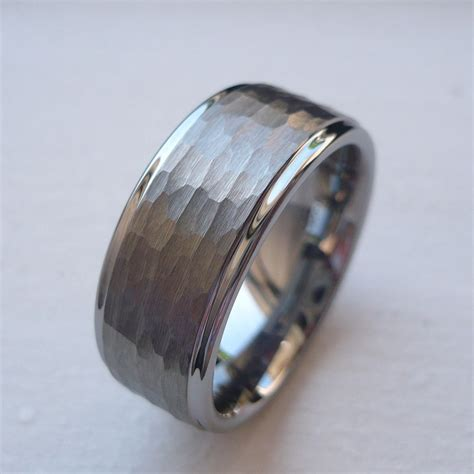 9mm tungsten carbide s wedding band ring brushed