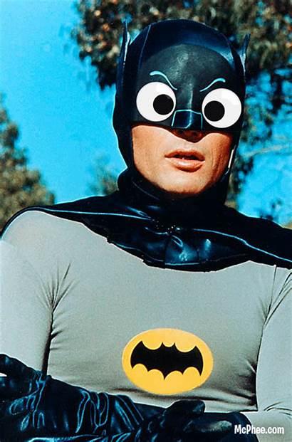 Eyes Googly Batman Celebrity Adam West Famous