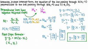 Lesson  Equations Of Parallel And Perpendicular Lines
