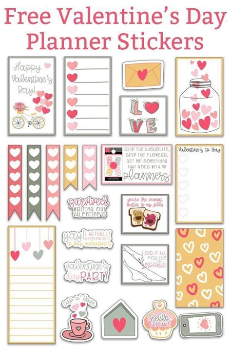 I have one more valentine's day svg for you! Valentine's Day Planner Stickers | Planner stickers ...