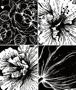 Print Flowers Vector Material -2 Prints Vector Material ...