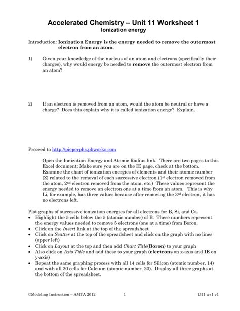 chemistry unit 11 worksheet 2 periodic trends answers