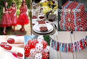 Décoration Mariage Rouge Et Blanc : mariage rouge et blanc petit pois tendance boutik ~ Melissatoandfro.com Idées de Décoration