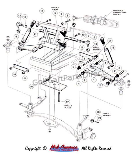 front suspension upper golfcartpartsdirect