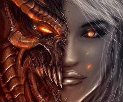 Demon Demons Wallpapers Angels Diablo Wallpaperplay