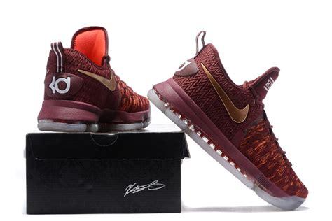 """Nike Kd 9 Christmas """"the Sauce"""" Deep Burgundy/metallic Red"""