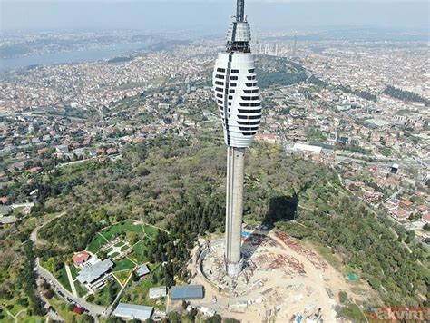 Çamlıca televizyon kulesi'nde sona yaklaşılıyor. İstanbul Çamlıca Kulesi'nin inşaatında sona yaklaşılıyor ...