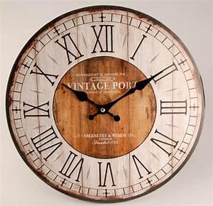 Vintage Wanduhr Groß Holz Metall : home affaire wanduhr vintage online kaufen otto ~ Bigdaddyawards.com Haus und Dekorationen