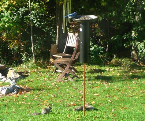 diy bird feeder pole squirrel proof bird feeders ftempo