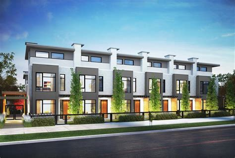 Hamilton Is Luxury Townhomeliving Along Vancouver's Oak