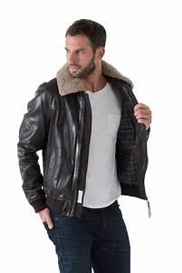 Blouson Col Fourrure Homme : veste en cuir aviateur homme blouson schott aviateur homme ~ Dode.kayakingforconservation.com Idées de Décoration