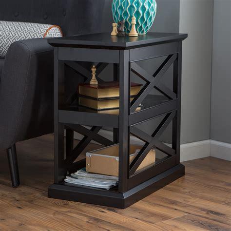 chair side tables black belham living hton chair side table black end