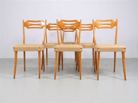 32387 maple dining room chairs present italian dining chairs in polished maple wood set of 6 for