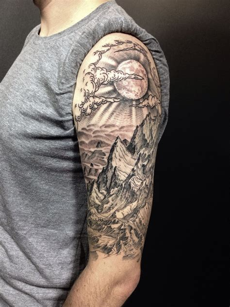 completed drews mountain landscape  sleeve