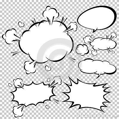comic speech bubblesvector illustration stock