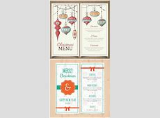 Retro Christmas and New Year menu template Free download