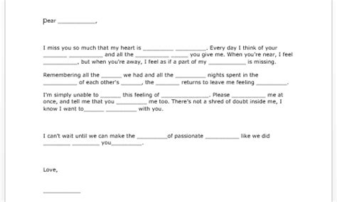 sample love letter microsoft word templates