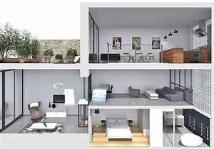 maison demi etage interieur With plan maison demi niveau 6 maison demi etage interieur