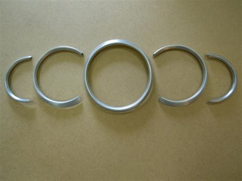 aluminum guage instrument bezel rings oem