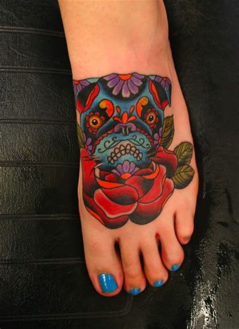 awesome pug tattoo images  pictures