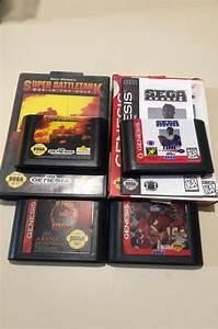 4 Sega Genesis Games 2 Complete In Box 2 Loose Mortal