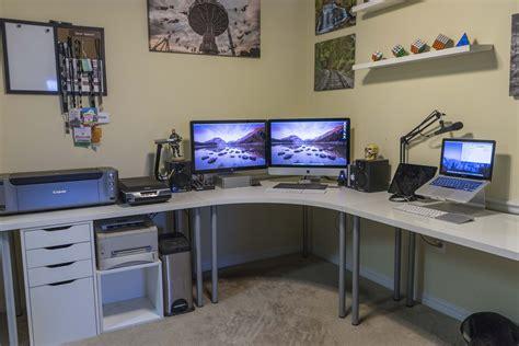 bureau gamer ikea ikea home office setup diy desks teal wood desk paint diy