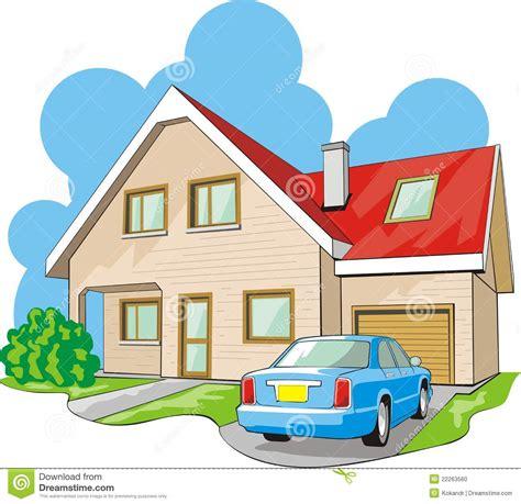 Haus Mit Garage Vektor Abbildung Bild Von Zustand
