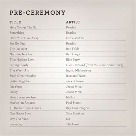 for when the guest are getting seated wedding ideas wedding songs